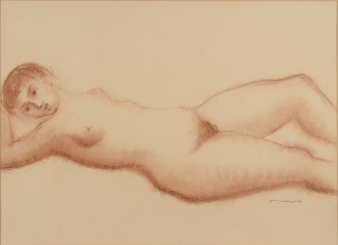 Geo Vindevogel drawing nude