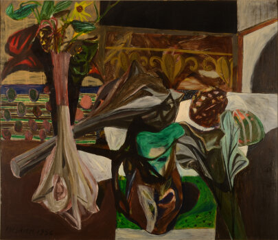 Pierre Vlerick Still life with vases and jug 1956