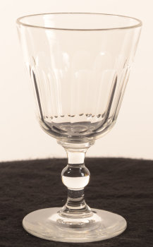 19th century drinking glass stem with sphere