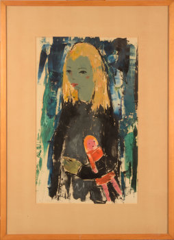Jef Wauters Girl with doll