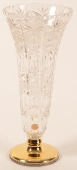 Wolfers Freres S.A. Crystal and gilt silver vase