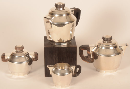 Wolfers Freres Vizir silver coffee and tea set