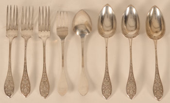Joseph Allard set of silver cutlery