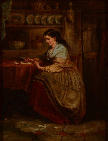 Luis Alvarez Catala a girl writing a letter