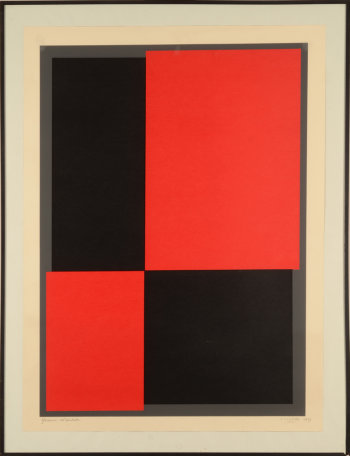Amedee Cortier 1969 Print Black and Red