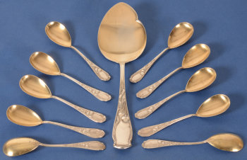 Franz Bahner silver art nouveau icecream set