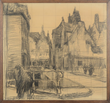 Albert Baertsoen the Zuivelbrug bridge in Gent
