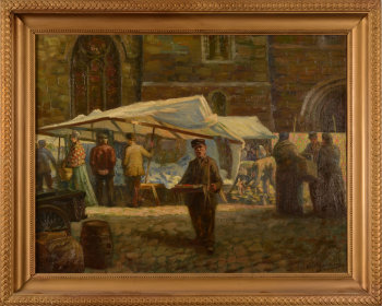 Oreste Bauwens the antiques market in Gent
