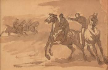 Wilfrid Beauquesne two horsemen in the foreground