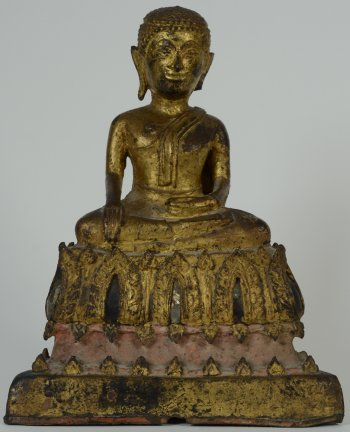 Sitting bouddha in bronze