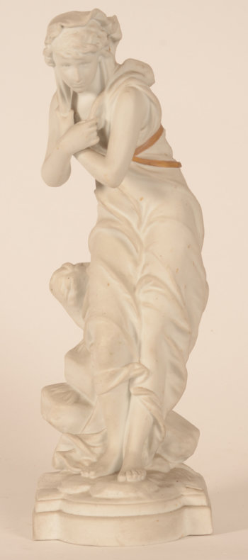 Eutrope Bouret Frileuse bisque sculpture