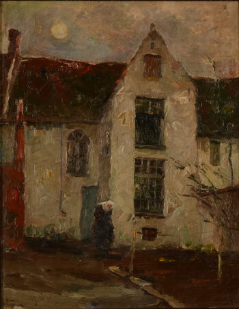 Herman Broeckaert Beguinage in the Evening