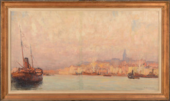 Raoul Léon Brygoo the harbour of Boulogne-sur-mer