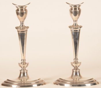 Pair of silver Candlesticks London
