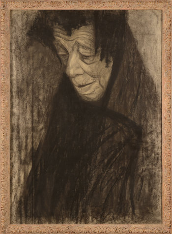 Cécile Cauterman woman with black shawl