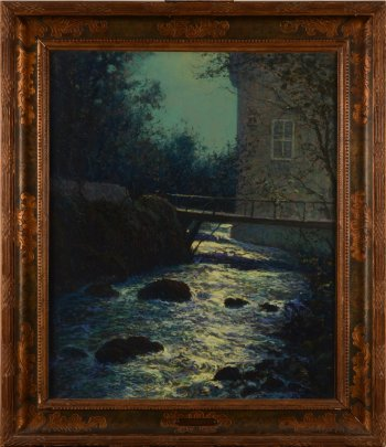 Arsene Chabanian moonlit river view