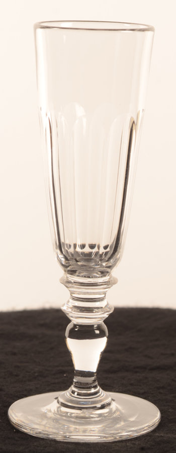 Champagne flute glass baluster