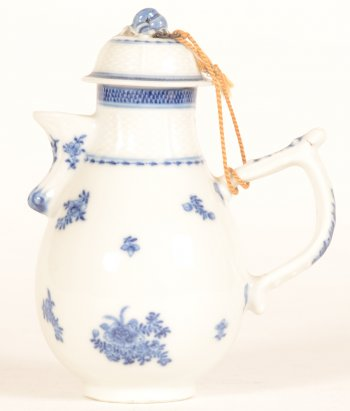 A smal Chinese porcelain blue and white European taste coffee pot.
