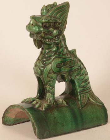 Chinese Fo Lion roof tile