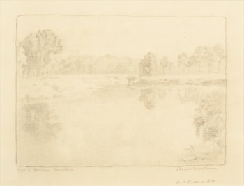 Emile Claus drawing reverberations