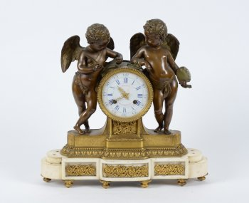 Clock with allegory of Painting and Poetry