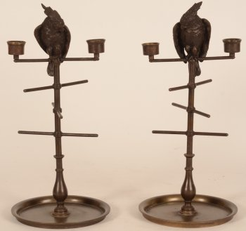 Cockatoo candlesticks