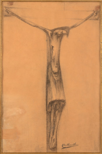 Oscar Colbrandt Christ on the cross drawing
