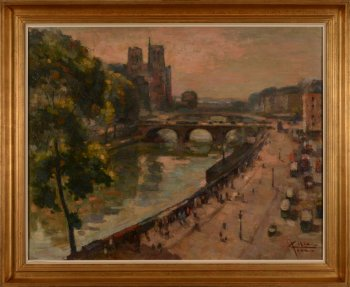 Jean Colin View of Paris