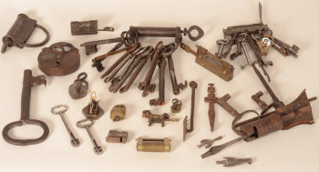 Collection of locks and keys