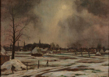 Karel Cornel view on Afsnee in the snow