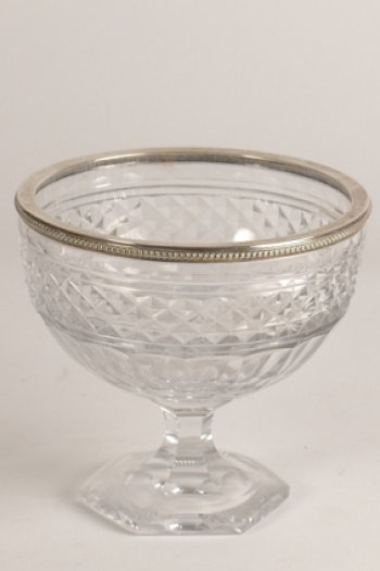 Delheid silver and crystal bowl
