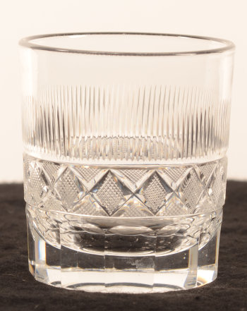 Cut crystal whiskey glass 81 mm