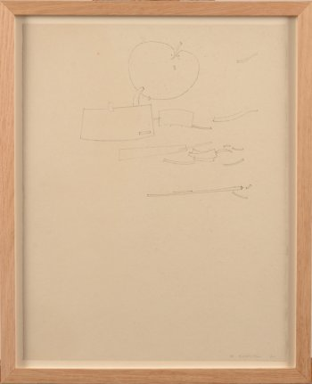 ​​Werner Cuvelier abstract drawing with apple