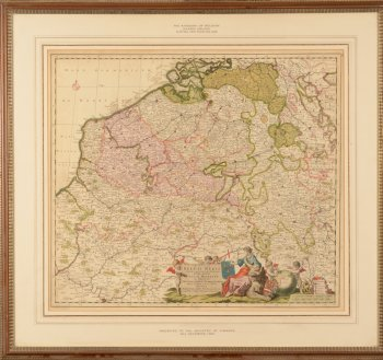 Justus Danckerts Map of Belgium