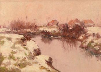 René De Baugnies Winter River