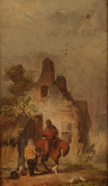 Eugène De Block oil sketch