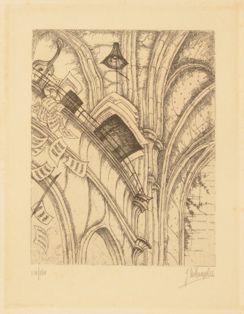 Jules De Bruycker Eglise St-Nicolas the choir loft  1938