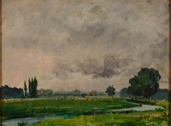 Jozef De Coene the river Leie in Flanders