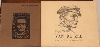 Gustave De Keukelaere two books with lithographs