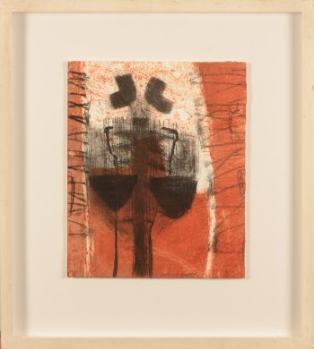 Enk De Kramer unique etching red