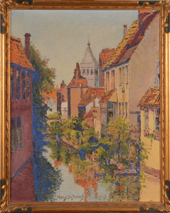 Marguerite De Poerck view of Bruges 1927