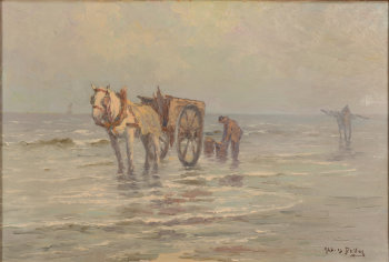 Albert Isidore De Vos shrimp fishermen at the Belgian coast
