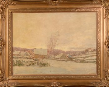 Henri Deglume Gerpinnes in the snow