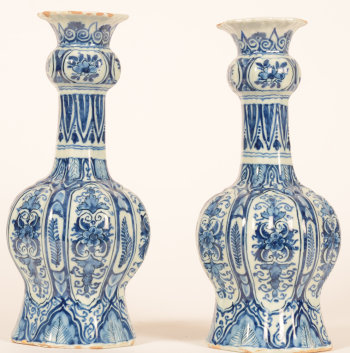 Delft pair of vases