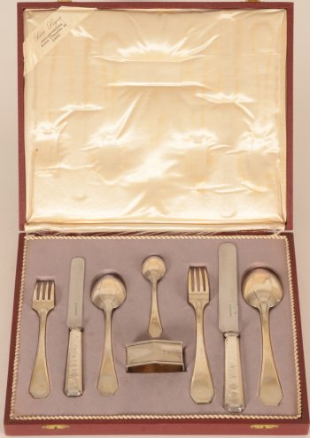 Delheid Freres silver art deco cutlery set