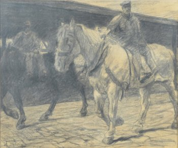 Jean Delvin work horses at the Antwerp Harbour