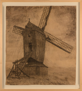 Alfons Dessenis windmill in Latem 1920