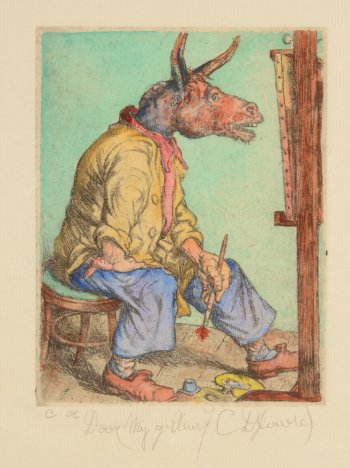 Camille D'Have self portrait as a donkey