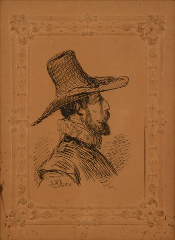 Adolphe Dillens Man with hat