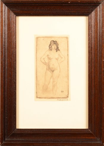 Maurice Dupuis etching nude